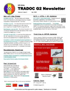 US Army TRADOC G2 Newsletter Volume 1, Issue 3 July 2020